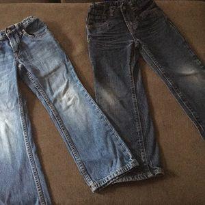 2 pair bundle of little boys jeans size 6